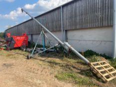 Brice Baker grain auger on trolley 36ft 3ph