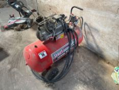 2012 Sealey VDC100 100l 3HP power mobile air compressor, single phase