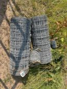 2No rolls stock netting (new) and barb wire