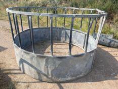Galvanised cattle ring feeder