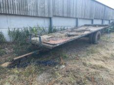 Single axle 18ft bale trailer with wooden floor