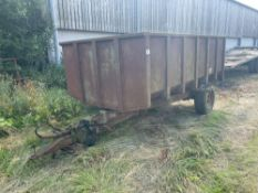 Henton 6t single axle hydraulic tipping trailer on 12.5/80-15.3 wheels and tyres