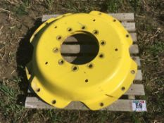 2x John Deere wheel centresand spacers