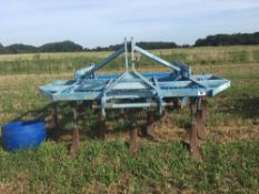 Lemken Karat 9 11 leg subsoiler, with discs and packer along with wing tines, and adjustable knives.