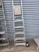 Aluminium step ladder NO VAT