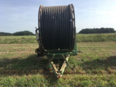 Kaskad 75 irrigation reel c/w with pipe.