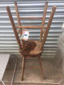 2 wooden stools NO VAT