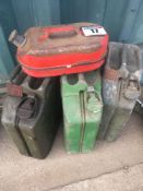 Qty of jerry cans NO VAT