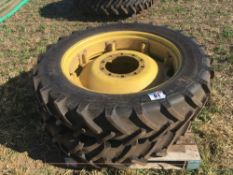 Pair of 270/95R36 & pair of 340/85R48 wheels & tyres