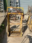 Bottle trolley and cutting equipment NO VAT