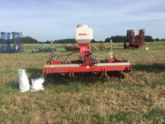 2012 Sumo Trio 3 3m cultivator with 6 legs, 2 rows of discs and multi packer, with auto reset.