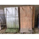 Qty of ply board grain walling