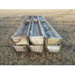Qty of wooden feed troughs