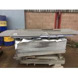 Quantity of fibre cement and clear plastic roof sheets