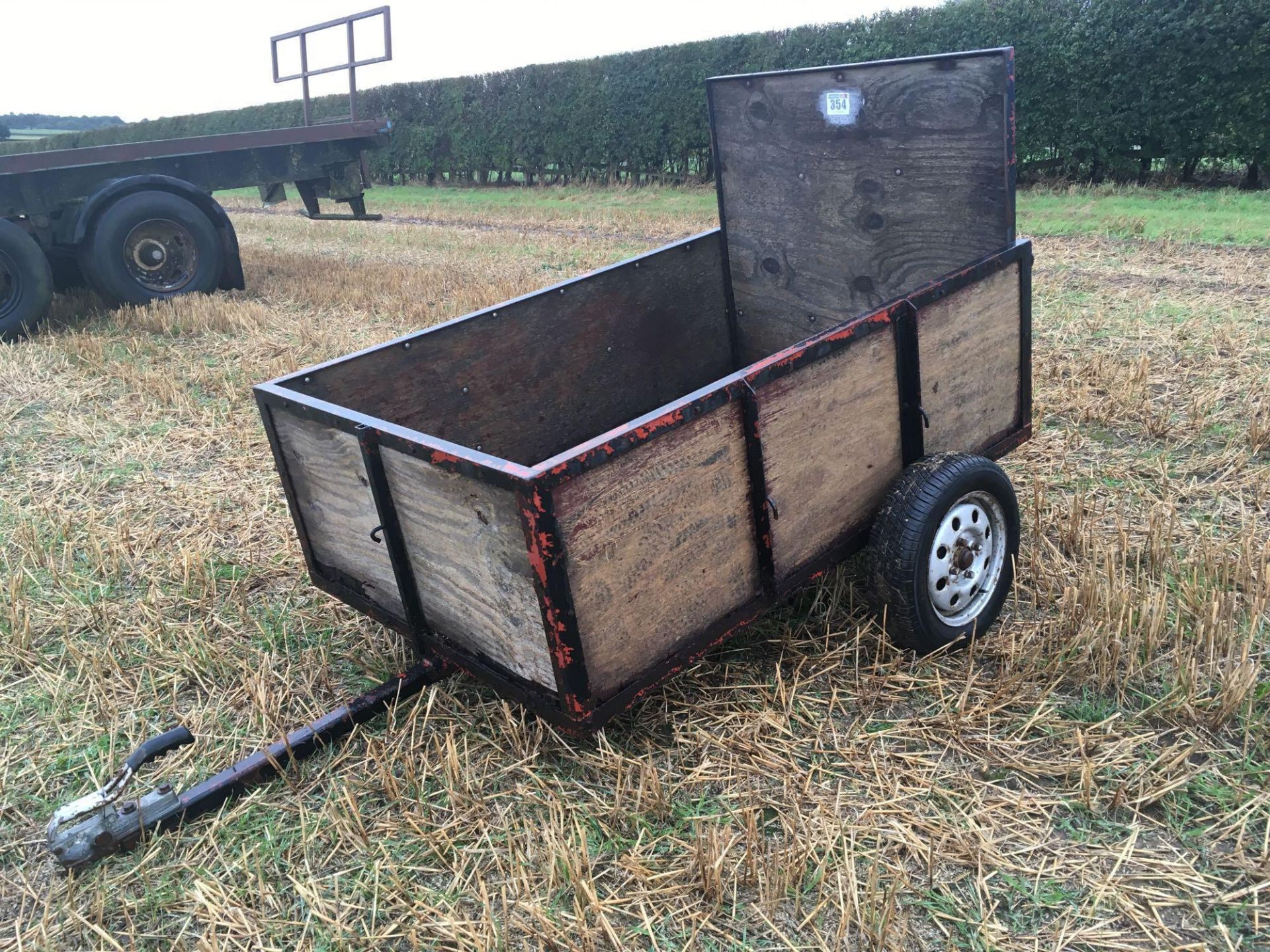 Wooden car trailer - Image 2 of 4