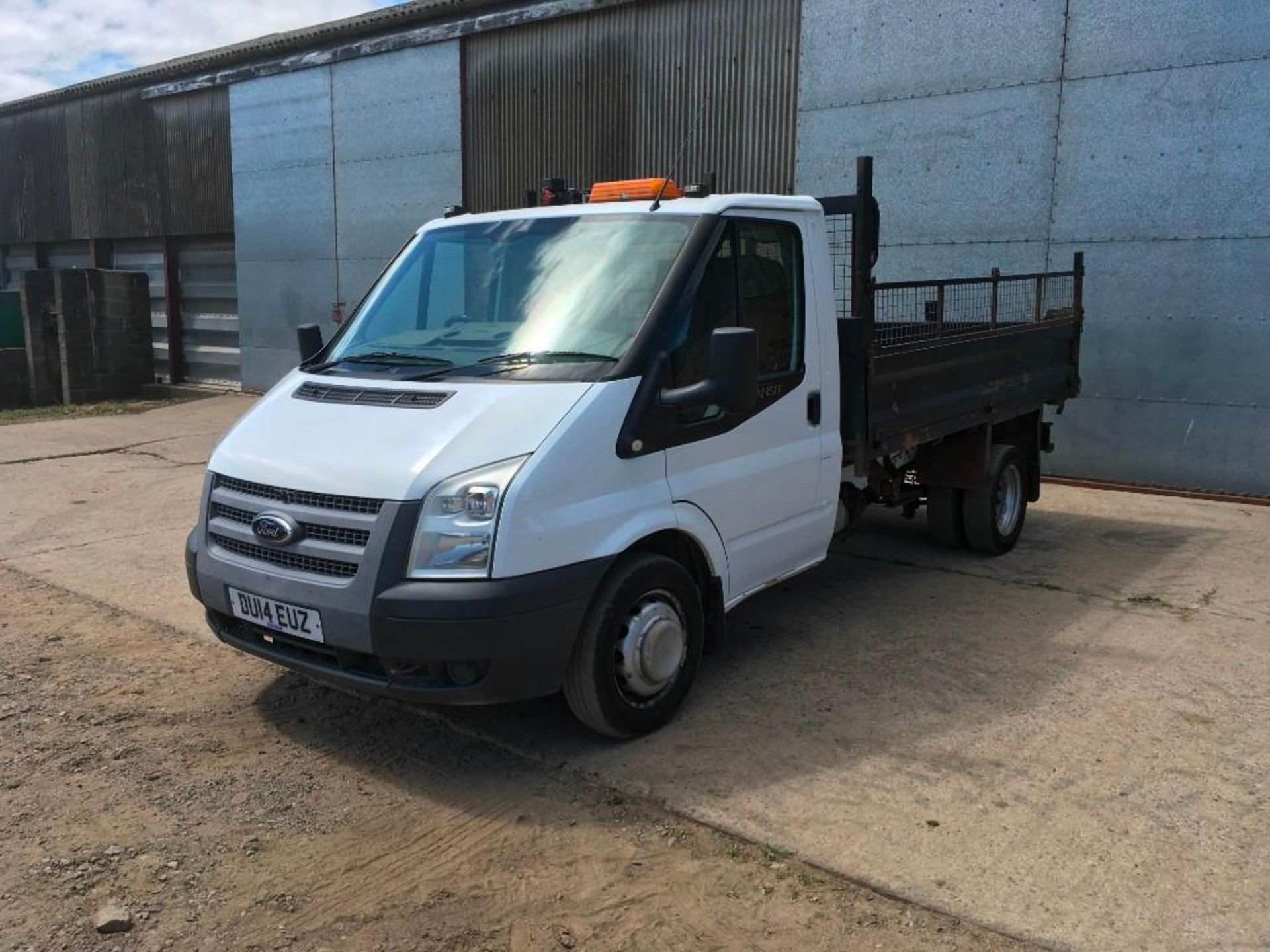 2014 Ford Transit 100 T350 with Brit-Tipp tipping body c/w independently manufactured crane with 0.5
