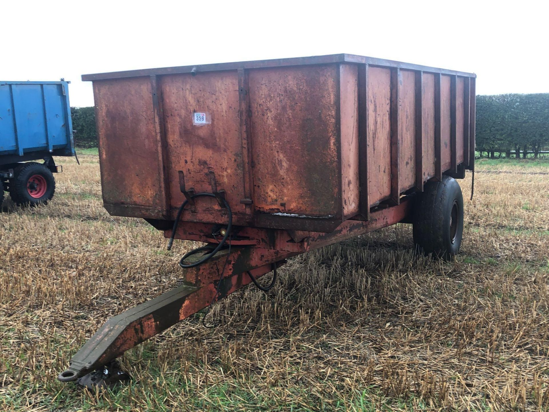1978 6t homemade single axle trailer. C/w silage sides and back door. - Image 2 of 8
