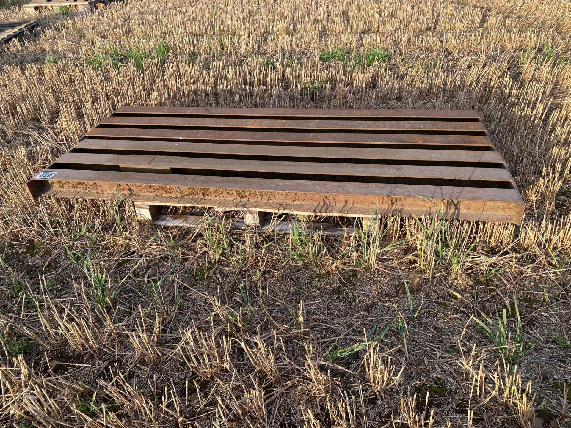 Heavy duty metal pit cover