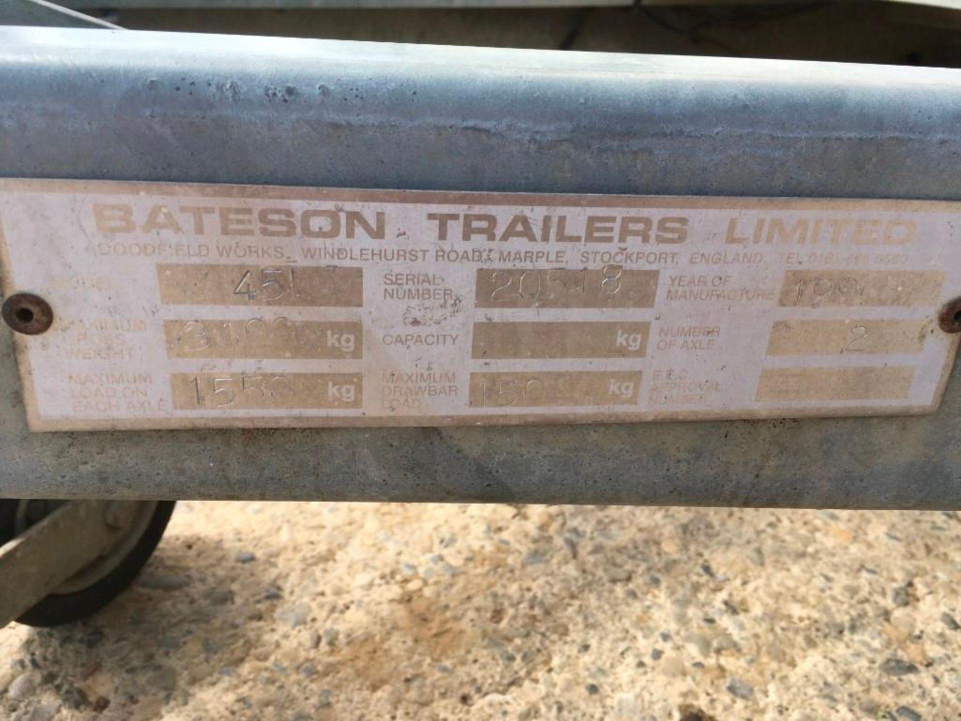 1996 Bateson Trailers 45LT twin axle livestock box, sprung rear door, side door, home made calf part - Image 14 of 14