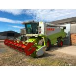1997 Claas Lexion 450 combine with C660 (22ft) auto contour header and header trolley. 6 straw walke