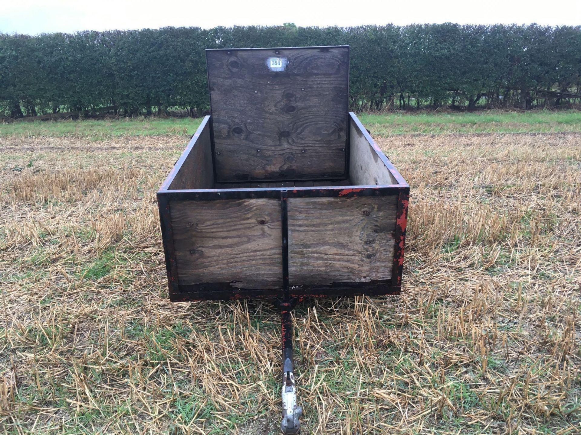 Wooden car trailer