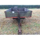 Tye wooden trailer