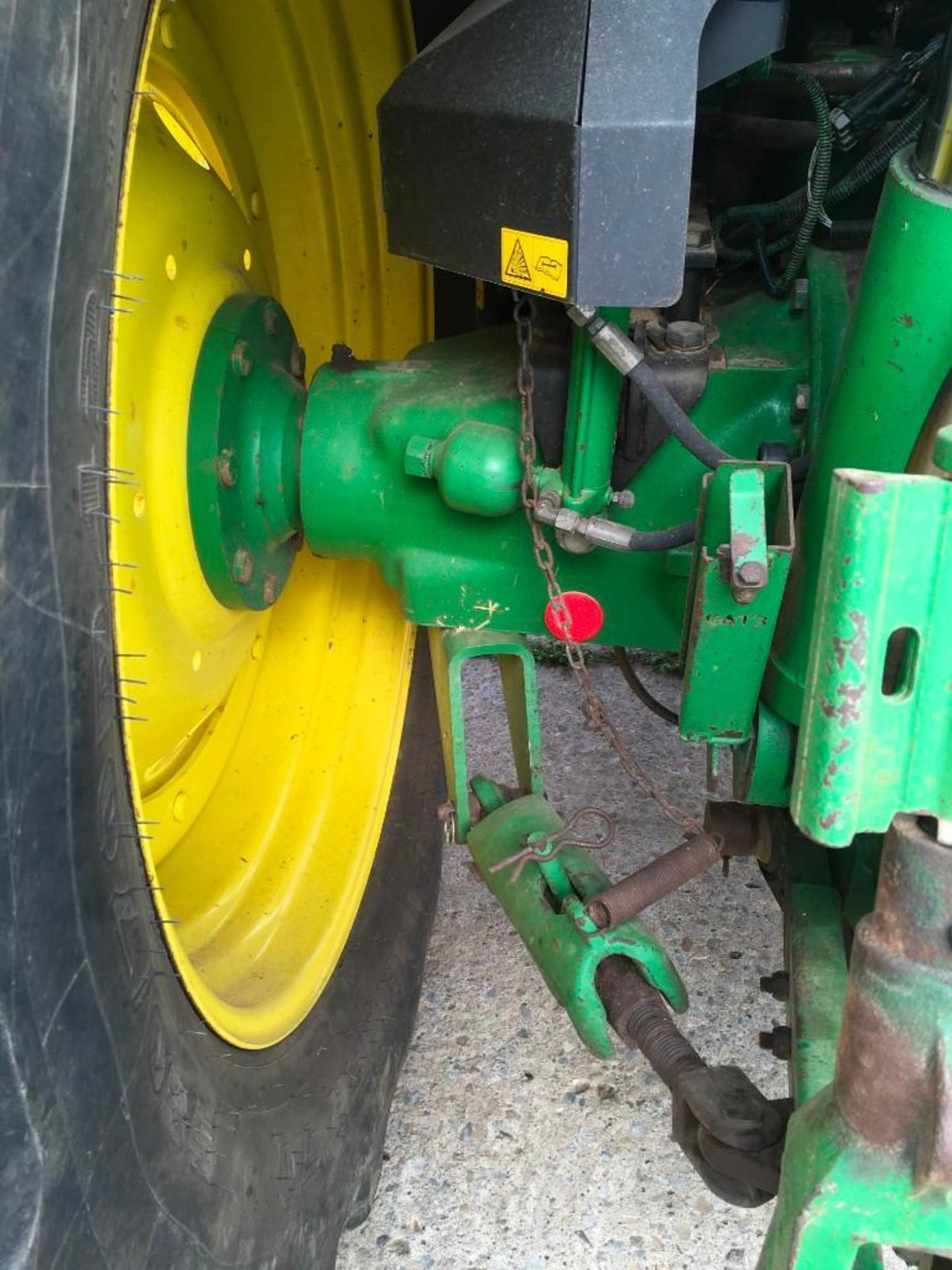 2008 John Deere 7530 tractor with auto quad gear box, 4 spool valves, pick up hitch, air seat, front - Image 10 of 14