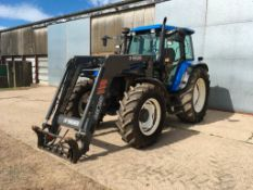 2003 New Holland TS115 tractor with Mailleux MX120 front loader. 2 spool valves, rear link arms and