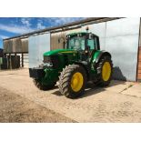 2008 John Deere 7530 tractor with auto quad gear box, 4 spool valves, pick up hitch, air seat, front