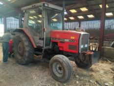 Massey Ferguson 3060 tractor. No door but new glass available at office. Hours: 13,486. Reg: E416 UW