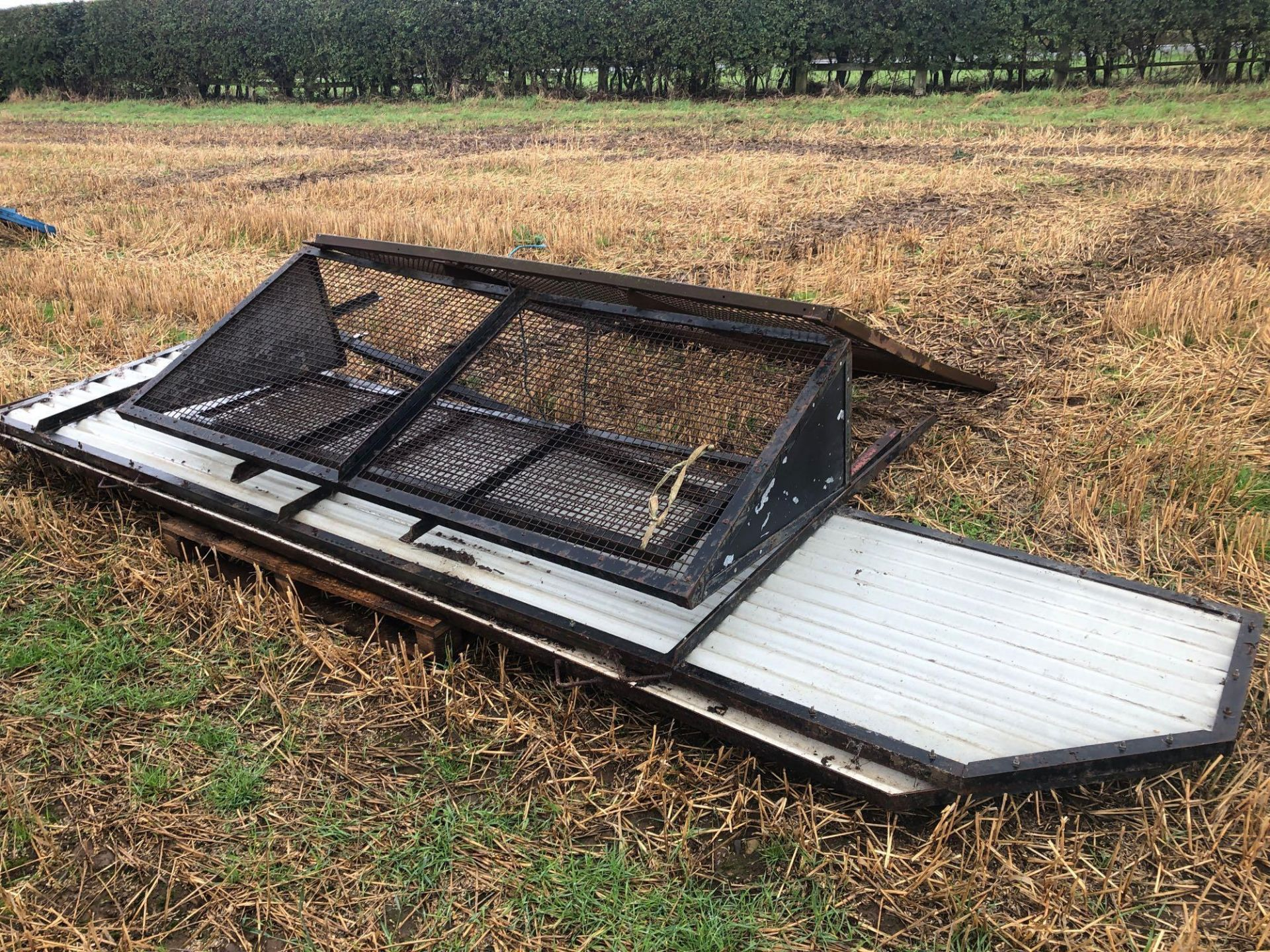 1978 6t homemade single axle trailer. C/w silage sides and back door. - Image 7 of 8
