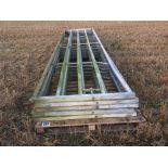 5x 15ft (4.5m) heavy duty galvanised gates