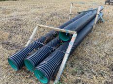 4No. 6m long 0.3m diameter plastic pipe