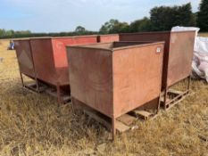 5No. Metal seed tanks