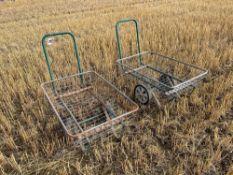 Pair mesh trolleys
