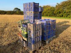 Quantity plastic crates