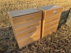 Pair chest drawers