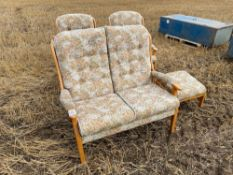 Chair, stool and sofa