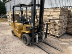 1996 Caterpillar DP25 2.5t industrial forklift. Hours: 6517. Serial No: 6BN00199. Manual in office.