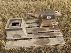 Large workshop anvil
