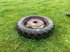 13.6/12R38 wheel and tyre, 8 stud