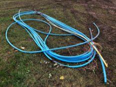 Quantity of blue alkathene pipe