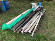 Quantity guttering, pipe and fixings