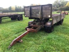 4 wheel drop side trailer 8ft x 15ft with front dolly