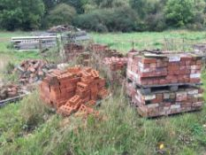 Quantity bricks, to be sold in situ (approximately 8 pallets located in the yard)