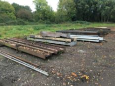 Quantity steel lengths, all that located in the yard
