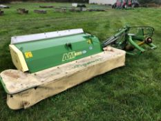 2010 Krone AM243CV 2.3m mower conditioner, linkage mounted. Serial No: 801696. Manual in the office.