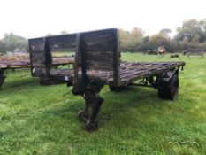 Trailer single axle with wooden floor, 8ft x 15ft and front rave