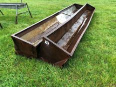 2No. 16ft 5inch Freestanding feed troughs