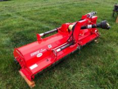 2018 Concept Perugini JT220 flail mower with hydraulic side shift. Serial No: 105171. Manual in offi